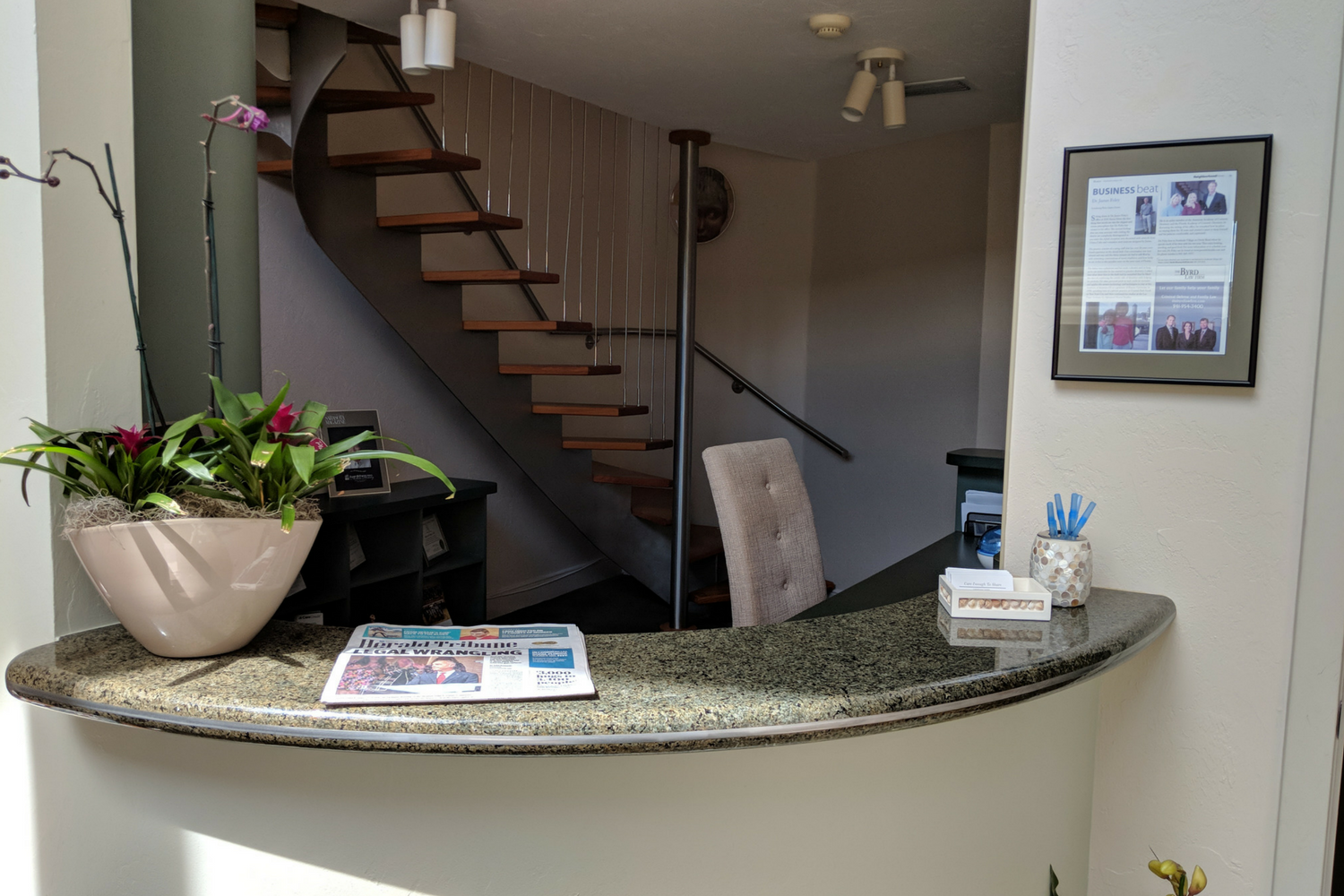 Reception Desk | Dentist Sarasota, Florida